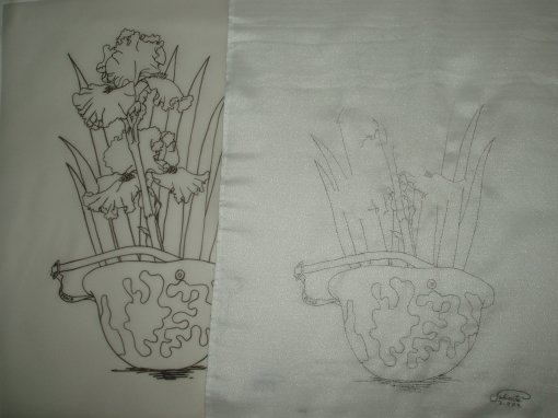 July 11 After 11 hours, seen with my ink drawing on tracing paper